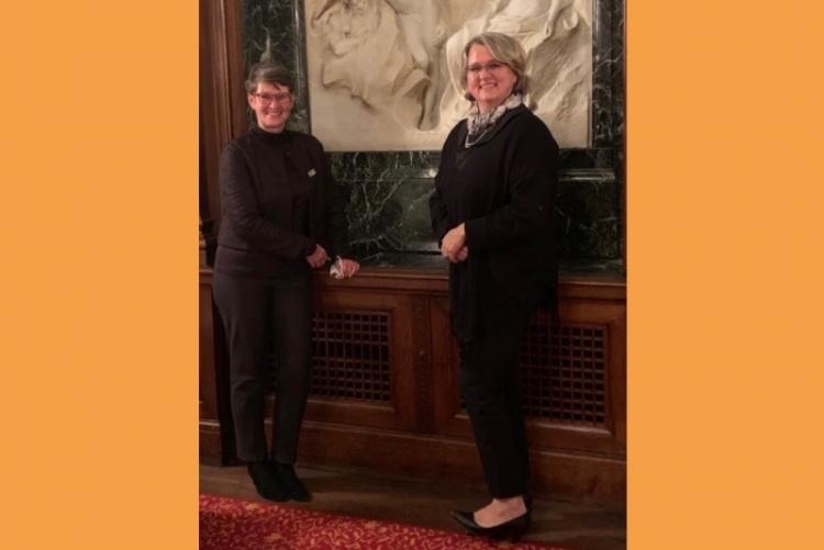Clubpräsidentin Martina Eich-Ehren und Valerie Saintot