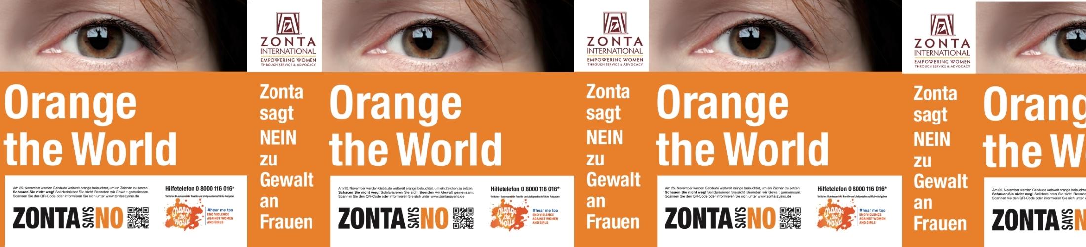Banner Orange The World