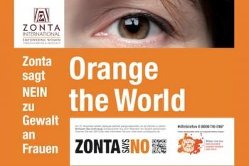 Der Zonta Club Frankfurt am Main sagt NEIN zu Gewalt an Frauen